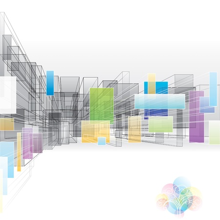 Abstract 3D background for architecture and designing.