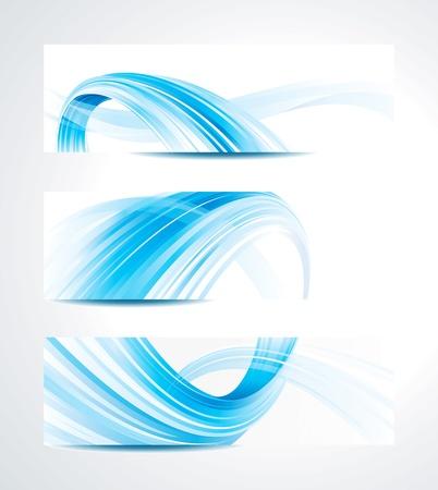 kurve: Set von abstrakten Technologie header background. Illustration