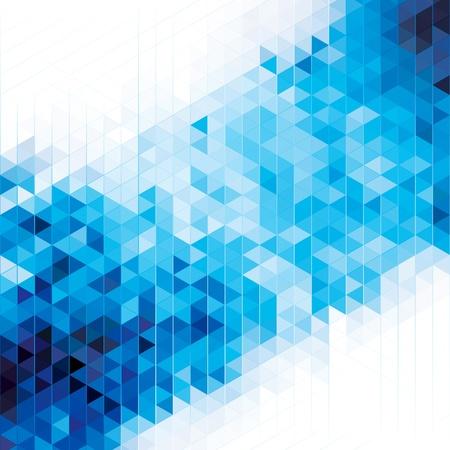 Abstracte moderne geometrische blauwe achtergrond Stock Illustratie