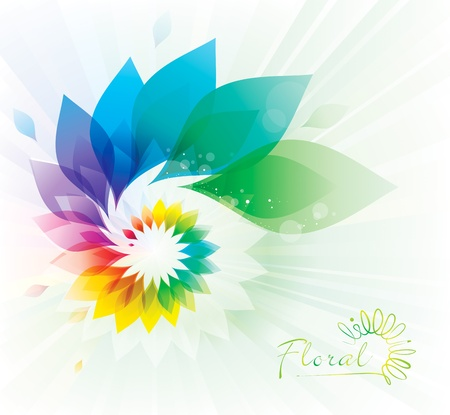 Abstract colorful floral swirl background