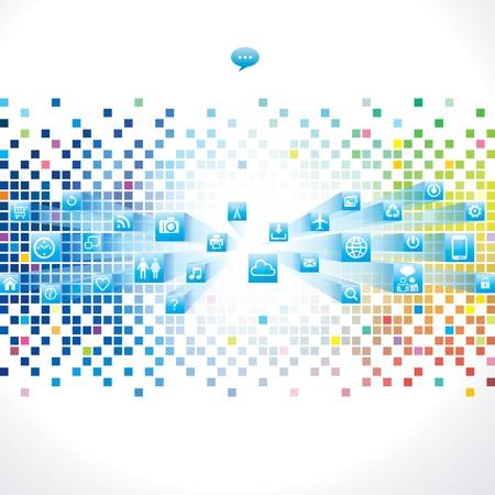 抽象的な技術の背景に web アイコン