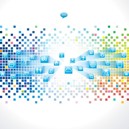Abstract technology background with web icon