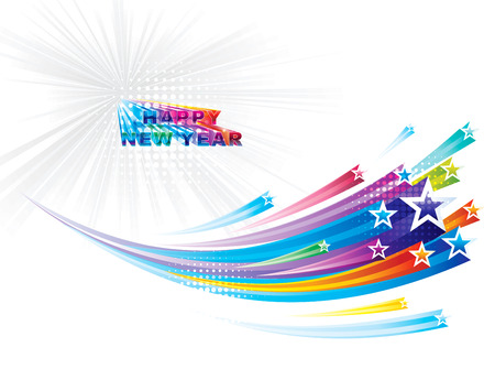 Star flowing New Year background Stock Vector - 24249821