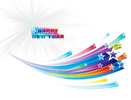 Star vloeiende achtergrond van het Nieuwjaar Stock Illustratie