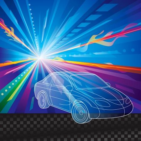 gagant: vitesse de mouvement de voitures fond abstrait