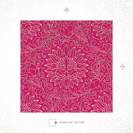 pattern sans soudure: Vecteur transparente de motif classique chinoise Illustration