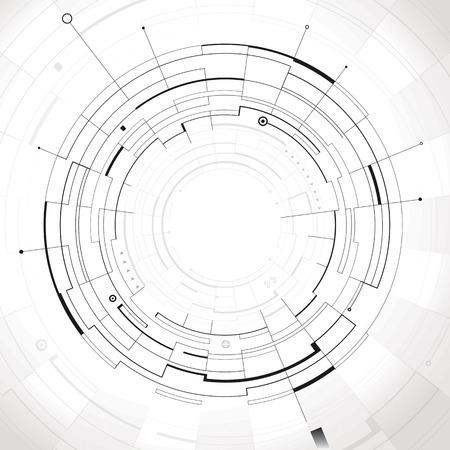 抽象的な円形構造技術の背景