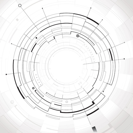 Abstract circular structure technology background