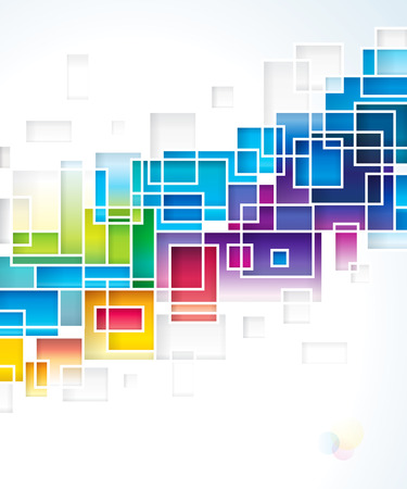 Colored squares design abstract background