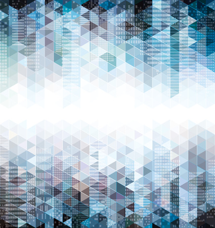 Abstract urban geometric background with copy space
