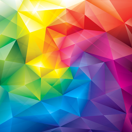 Abstract polygonal gems colors background  Vector