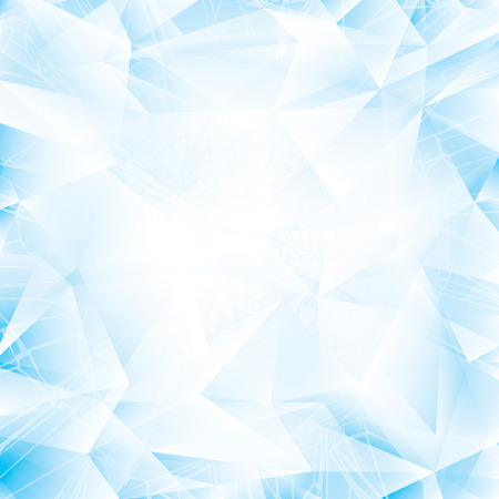Abstract light blue glass or ice background