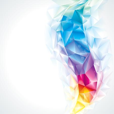 抽象的な多角形水晶色背景