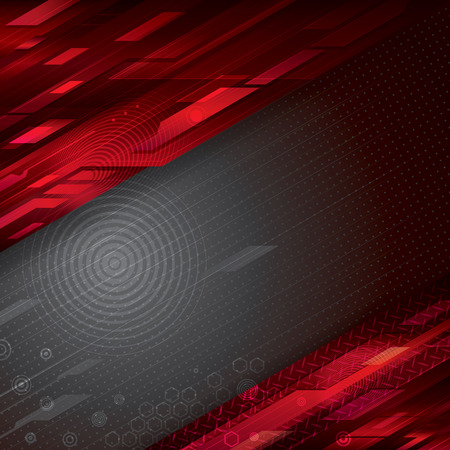 Digital abstract red technology background