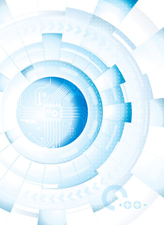 Abstract technology blue white background