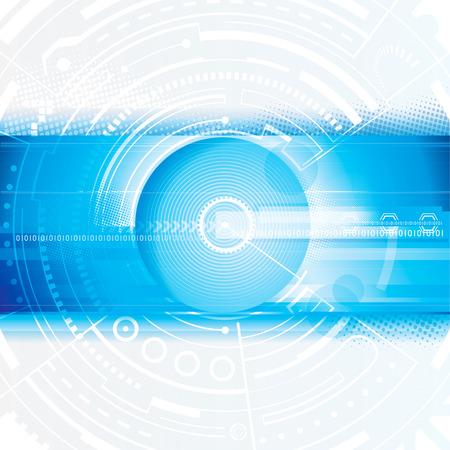 Abstract technologie blauwe digitale achtergrond Stock Illustratie