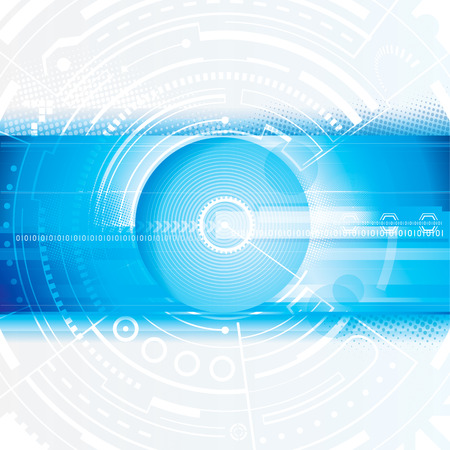 Abstract technology blue digital background