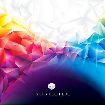 gestalten: Bunte abstrakte polygonale Design-Hintergrund Illustration