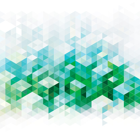 Abstracte geometrische groene stedelijke achtergrond Stock Illustratie