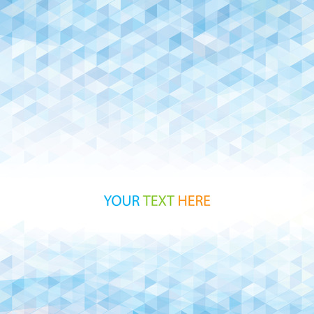 Abstract perspective geometric light blue background