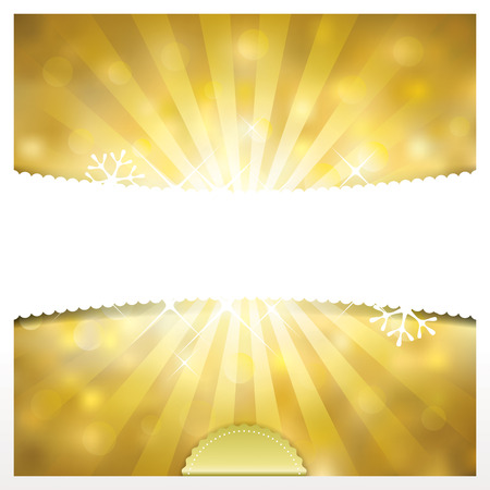 blurred lights: Golden Holidays blurred lights banner background.