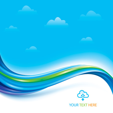 Abstract technology connection of cloud computing concept background.