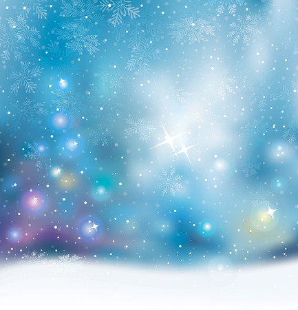 Christmas lights holiday mood blurred background. Vector