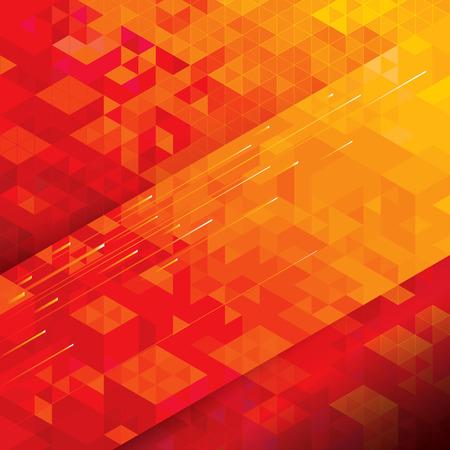 geometria: Estructura geométrica fondo rojo abstracto técnico. Vectores