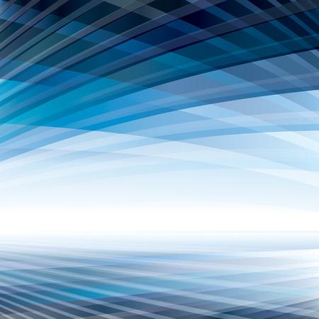 behang blauw: Abstracte virtuele perspectief ruimte achtergrond.