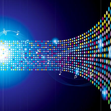 musica electronica: Música concepto abstracto colorido del fondo. Vectores