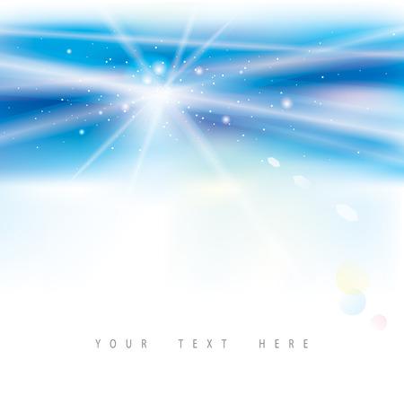 Virtual de la luz de fondo azul abstracto.