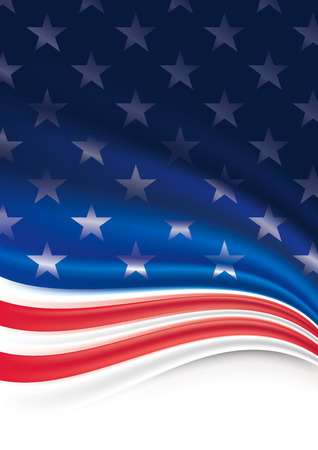 American Flag Background. Vettoriali
