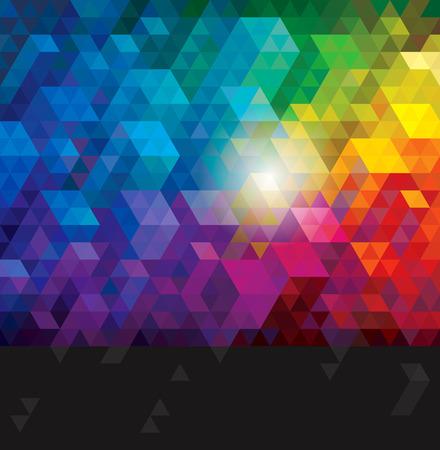 absztrakt: Absztrakt színes geometriai városi háttérben.