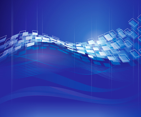 Abstract blue technical modern background. Vector