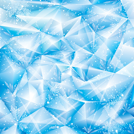 Winter snowflakes abstract Christmas background. Illustration