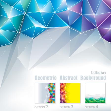 多角形パターンの幾何学的な抽象的な背景のコレクションです。