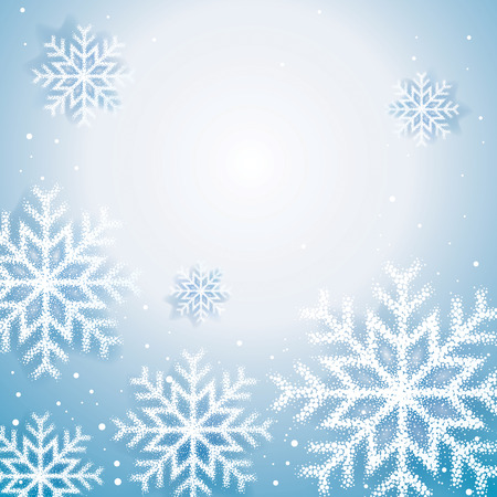 christmas snow: Christmas snow flakes abstract background. Illustration