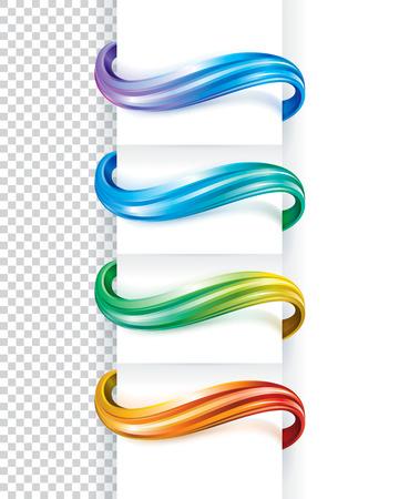 vague: R�sum� courbe �l�ments couleurs collection.