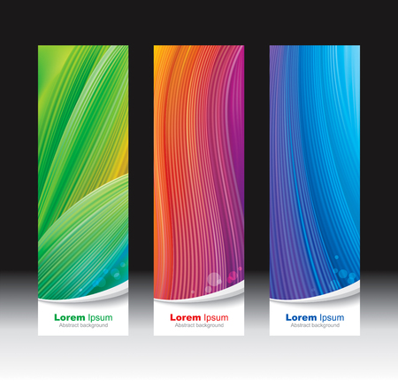 modern abstract design: Abstract waves mesh background vertical banners.