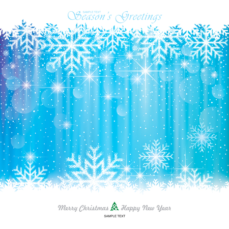 Christmas Background. Abstract snowflakes blue background.