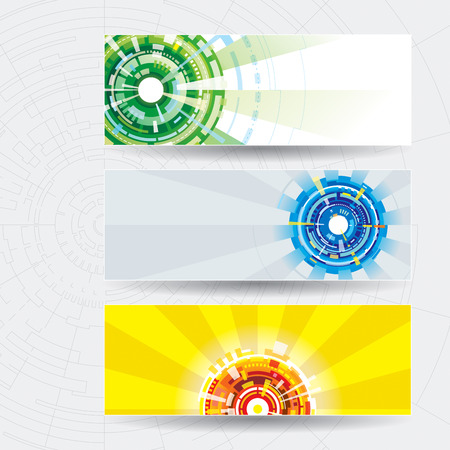 technology abstract background: Abstract technology web banner with tech background.