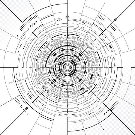 技術循環構造の抽象的な背景。