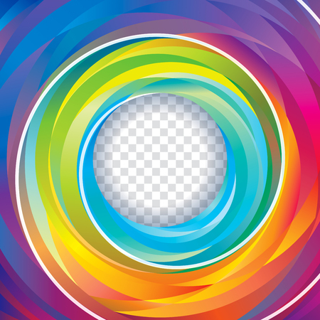 shape vector: Colorful swirl circle background.