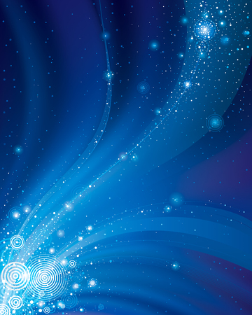 Abstract galaxy dark blue background. Illustration