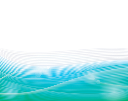 green wave: Abstract ecology green wave background. Illustration