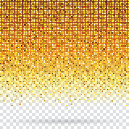 textured effect: Golden pixels flickering texture abstract background. Illustration