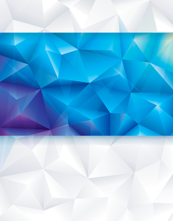 blue abstract: Abstract geometric polygonal blue and white background.