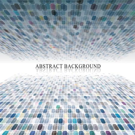 pixels: Abstract pixels design perspective background. Illustration
