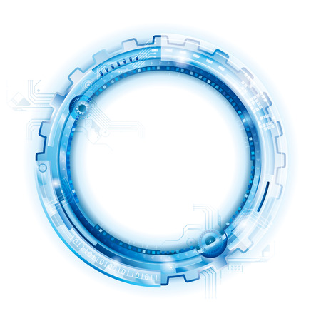 technology abstract background: Circular Abstract Technology Background