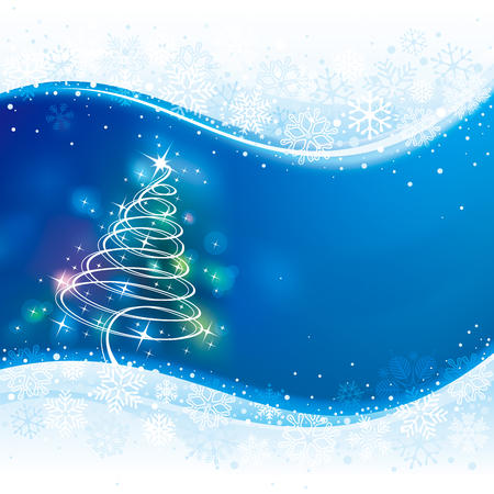 holiday background: Holiday background with Christmas tree.